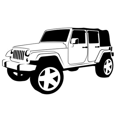 400x400 Jeep Clipart Black And White