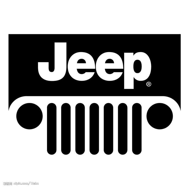 736x736 Jeep Wrangler Grill Silhouette