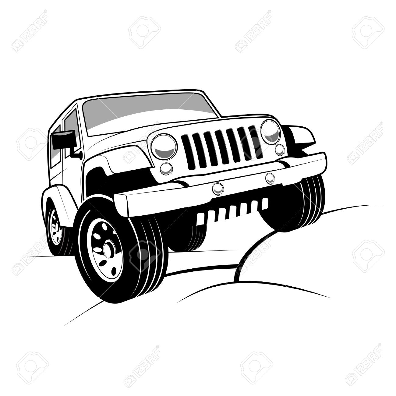Jeep Silhouette Clip Art At Getdrawingscom Free For Personal Use