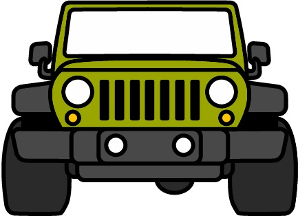 433x317 Free Jeep Wrangler Front Clipart