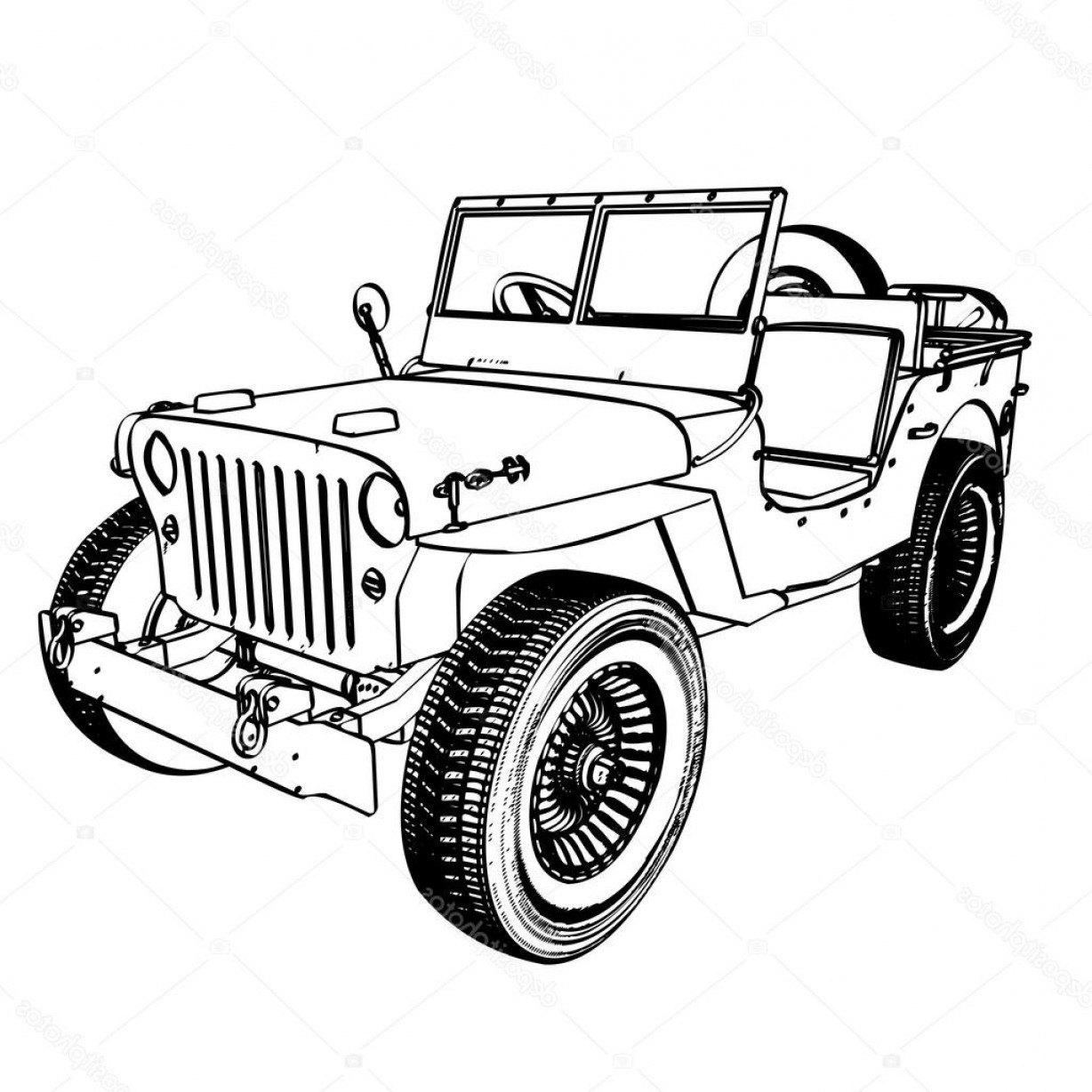 1228x1228 Jeep Vector Drawing Lazttweet
