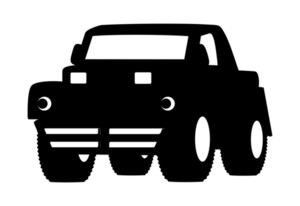 300x206 Black Shape Jeep Vector Royalty Free Stock Image