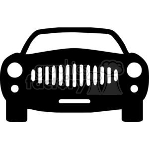 300x300 Royalty Free Front Of A Car Silhouettes 379751 Vector Clip Art