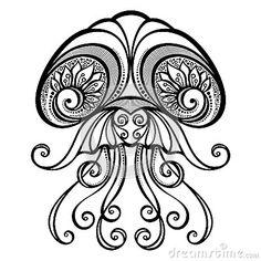 236x236 Jellyfish Tattoo Tribal