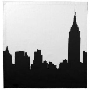 307x307 Silhouette Of City Napkins Zazzle