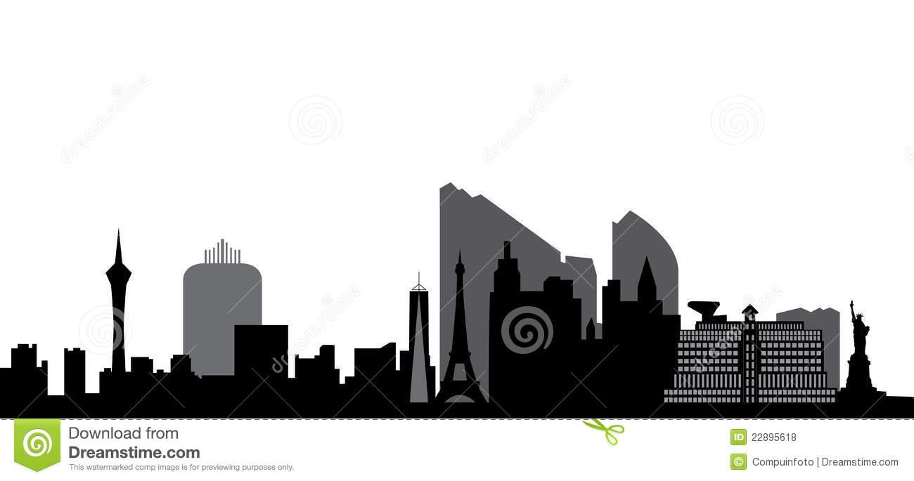 1300x685 Skyscraper Clipart Las Vegas Skyline