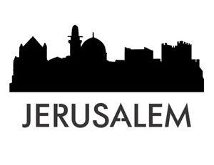 300x232 Jerusalem Skyline City 11 X 8.5 Custom Stencil Fast Free