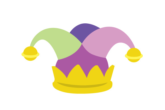 580x386 Mardi Gras Jester Hat Svg Cut File By Creative Fabrica Crafts