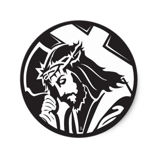 540x540 Jesus Carrying Cross Sticker
