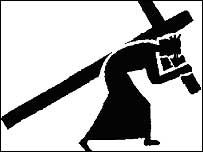 203x152 Jesus On The Cross Silhouette Silhouette Of Jesus Carrying