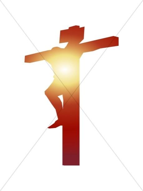 459x612 Shining Christ On Cross Good Friday Clipart