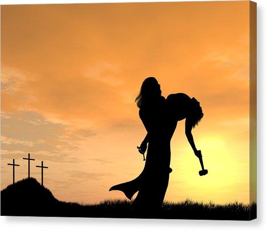 jesus carrying cross silhouette at getdrawingscom free