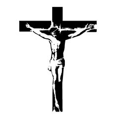 236x236 Cross With Jesus Christ Cristian Religion Silhouette Royalty Free