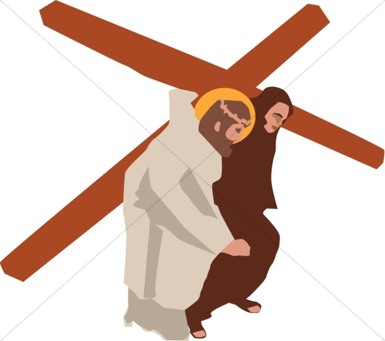 776x686 Jesus Carries The Cross Stations Of The Cross Clipart
