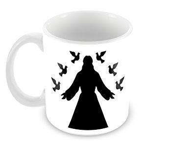 355x293 Buy Creative Jesus Christ Silhouette Ceramic Coffee Mug (350 Ml
