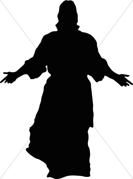 455x612 Jesus In Silhouette Jesus Clipart