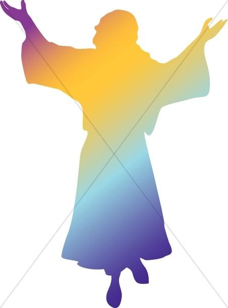 452x612 Rainbow Silhouette Jesus Jesus Clipart