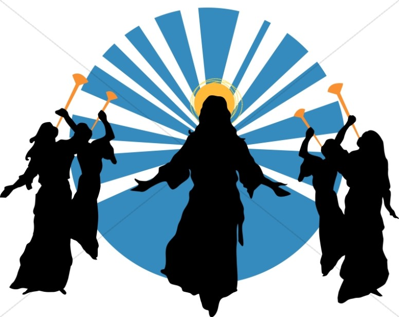 776x616 Coming Of Christ Silhouette Clipart
