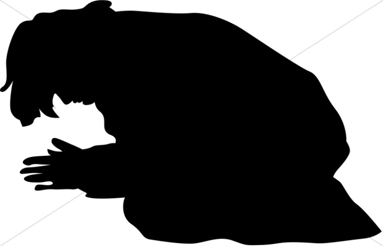 776x499 Grayscale Youth Praying In Front Of Christ Silhouette Prayer Clipart
