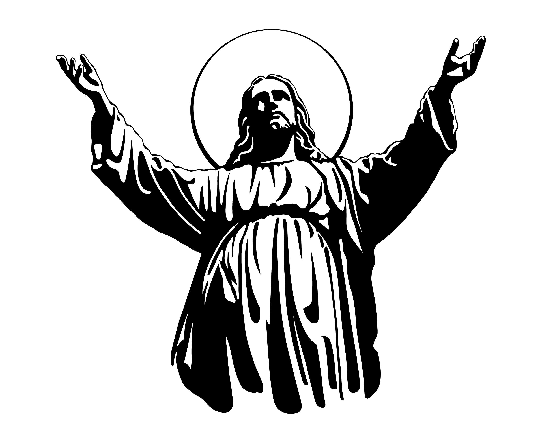 Jesus Christ Silhouette Illustration at GetDrawings.com ...