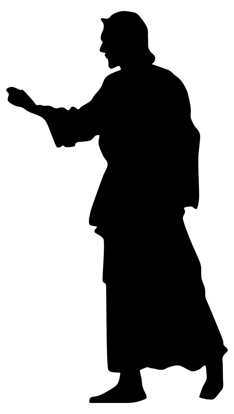 955x1690 Jesus Christ Silhouette Clipart