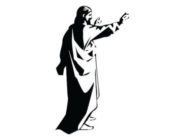 340x270 Jesus Decal. Jesus With Open Arms Sticker. Jesus Christ
