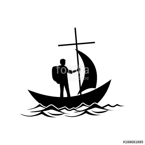 500x500 Christian Illustration. Follower Of Jesus Christ Floats In