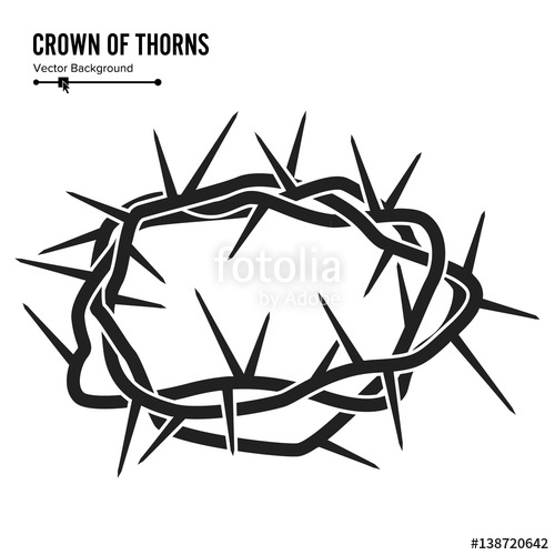 500x500 Crown Of Thorns. Silhouette Of A Crown Of Thorns. Jesus Christ