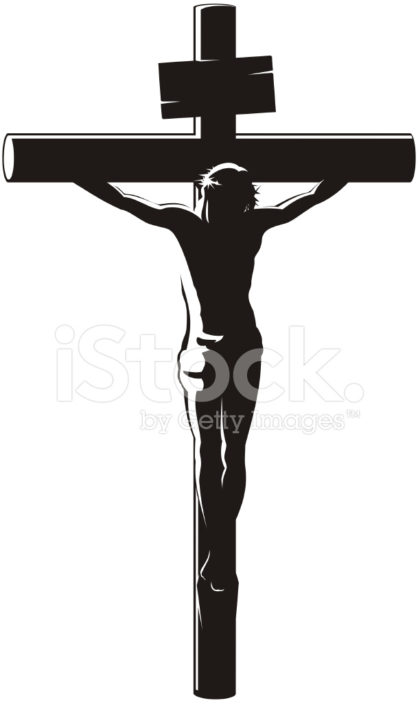 609x1024 The Crucifixion Of Christ Stock Vector