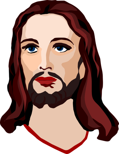 386x500 Image Of The Face Of Jesus Public Domain Vectors