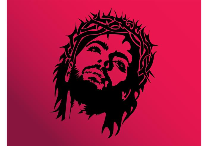 700x490 Jesus Face Vector