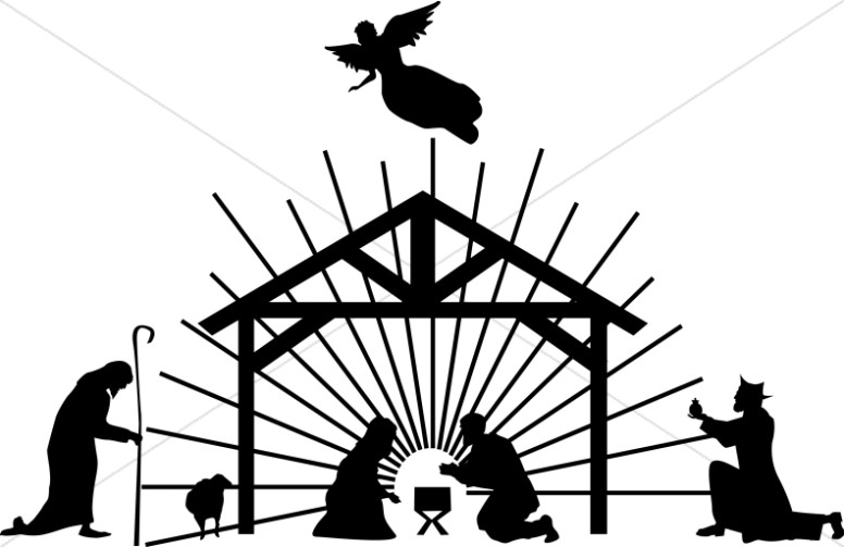 Jesus In A Manger Silhouette At Getdrawingscom Free For Personal