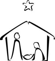 236x258 Mary, Joseph And Baby Jesus Silhouette Baby Jesus, Nativity
