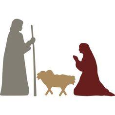 236x236 Nativity Mary Holding Baby Jesus Baby Jesus, Silhouette Design
