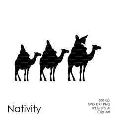 236x236 Commercial Use Nativity Christ Silhouette Overlays (Eps, Svg, Dxf