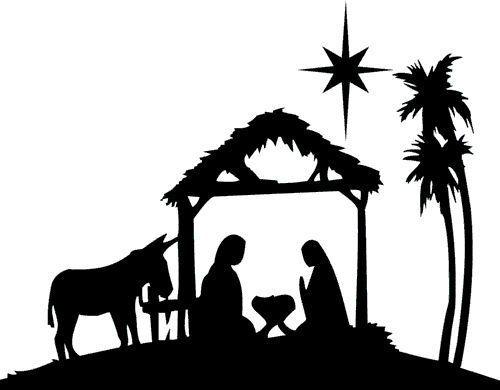 Jesus Manger Silhouette