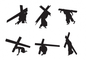 285x200 Jesus Carrying The Cross Free Vector Graphic Art Free Download