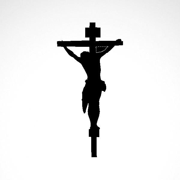 600x600 Simple Color Vinyl Jesus Christ Cross Symbol Stickers Factory