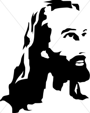 310x388 Black And White Clipart Of Jesus