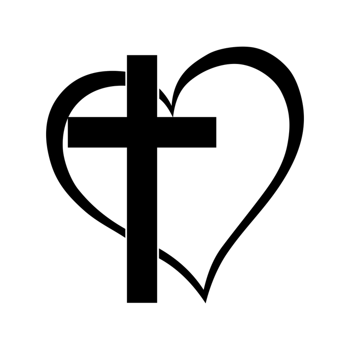 690x690 Cross Heart Jesus God Heart Love Graphics By Vectordesign On Zibbet