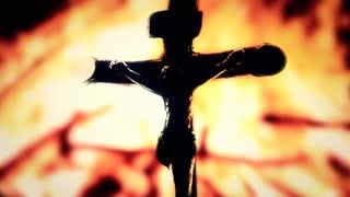 320x180 Cross Detail Jesus Fire Symbol. Jesus Christ On The Cross
