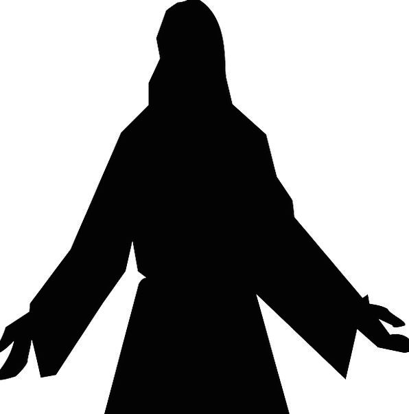 596x602 Jesus, Confidence, Christian, Faith, Silhouette, Christ, Jesus