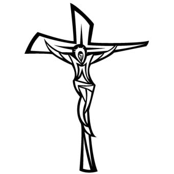 340x340 Jesus Christ On Cross Vector 123freevectors