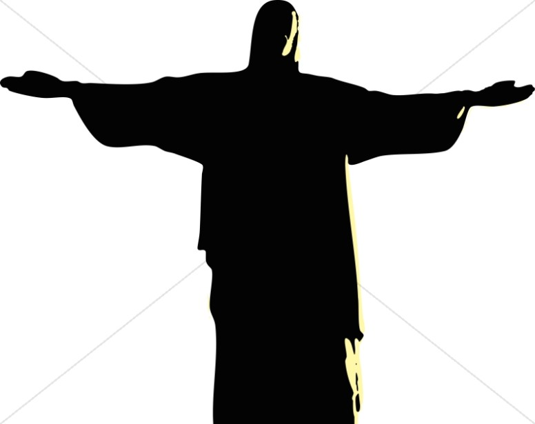 776x615 Silhouette Of The Prophetic Jesus Clipart