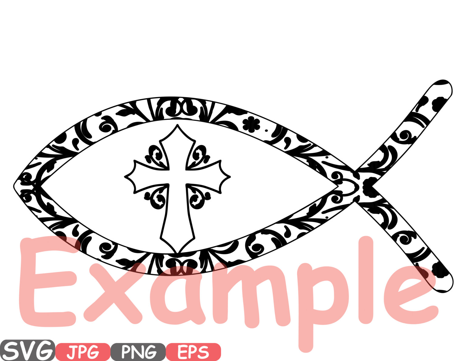 1500x1187 Jesus Fish Svg Silhouette Cutting Files Jesus Religious Jesus