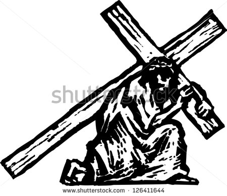 450x390 Free Jesus Carrying Cross Clipart