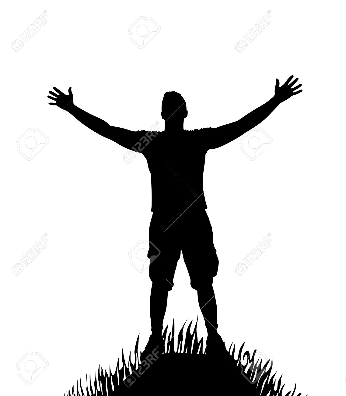 1137x1300 Jesus Arms Open Hill Silhouette Clipart Amp Jesus Arms Open