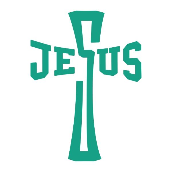 600x600 Jesus Cross Cuttable Design Downloaded Jesus Cross