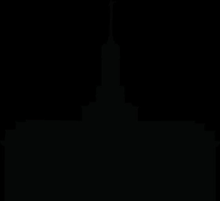 701x642 Lds Temple Silhouette Clipart