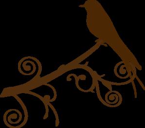 298x264 Bird On A Branch Silhouette Clip Art